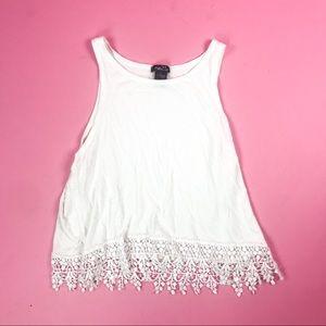 White Embellished Crop Top
